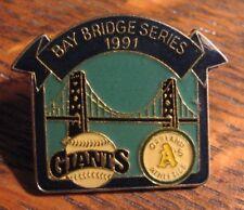 San Francisco Giants Oakland A's Lapel Pin - Vintage 1991 Bay Bridge Series Game