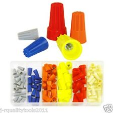 107pc Electrical Wire Twist Connector Cap w/ Spring Insert Assortment