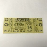 Clyde Beatty Cole Bros Combined Circus Yellow Ticket Stub Vintage April 1988
