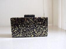 Zara Woman Handbag Splendido Nero & Oro Fleck insolito Donna Piccola Scatola Eve Borsa