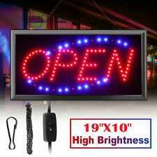 "19""×10"" Neon Animated Led Business Sign Open Light Bar Store Shop Display Board"