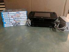 Nintendo Wii U 32 GB Console W/GamePad & 8 games.