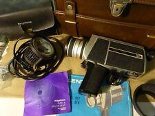 Vintage LENTAR SUPER 8 8-64mm Zoom Lens Model 817 Movie Camera, Case & Light