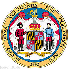 ***MARYLAND STATE SEAL VINYL  DECAL / STICKER****