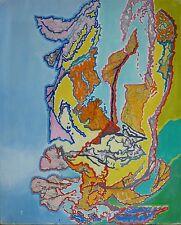 "Albert PRAT (1927-2009) HsT Abstraction lyrique Abstract ""Elan vers la lumière"""