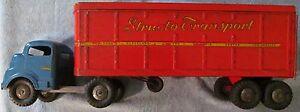 1950s Structo Transport Van Metal Pressed Steel Toy Truck #700