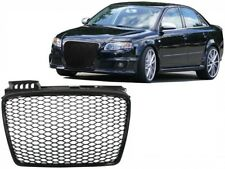 Badgeless Front Grille Audi A4 B7 2004-2008 RS4 Design Piano Black.