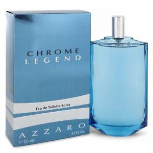 Chrome Legend Men's Cologne By Azzaro 4.2 oz/125ML Eau De Toilette Spray