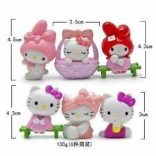 Hello Kitty Anime Figures Mini Figurine Display Kids Toy Gift Cake Topper 6pcs