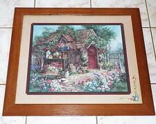 "Home Interiors The Potting Shed Framed & Matted Print Signed 28"" x 24"""