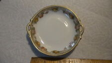 NIPPON Hand Painted China BUTTER PAT, Small Floral, Tiny Open Handles
