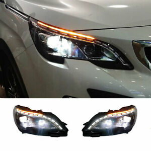 For Peugeot 3008 LED Headlights Projector HID LED DRL Replace OEM Halogen 2017