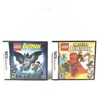 Nintendo DS Lot of 2 Lego Batman & Lego Battles Ninjago.  Complete in Box CIB