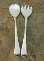Sheffield England Silverplate Flatware Fork Spoon Salad Serving Set Vintage