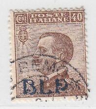 ITALIA REGNO 1921 B.L.P. SASSONE N.4 40C BRUNO USATO