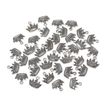 Small Crown Metal Charms, 3/4-Inch, 36-Count