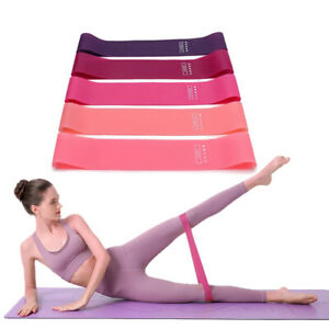 Portable Fitness Workout Equipment Rubber Resistance Bands Yoga Gym ElasticFCA