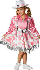 Girls Western Diva Cowgirl Costume Pink and White Rodeo Outfit  Size Medium 8-10
