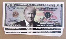 10 DONALD TRUMP PRESIDENT MONEY FAKE 2016 LOT BILLS MILLION DOLLAR BILLS VI