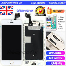 For iPhone 6S 4.7'' White Screen Replacement Touch Digitizer LCD Gold Button