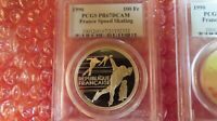 1990 France 100 Francs Speed Skating 22 gram Silver Coin PCGS PR67 olympics