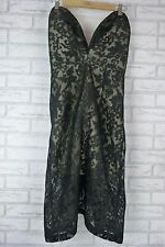 JARLO Evening Dress Size M, 10  Black Lace Nude Lining BNWT ASTRID