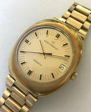 Vintage Girard Perregaux Quartz large mens watch with date, cal. 315-515