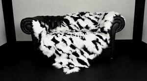 Luxury Real Platine Fox Fur Blanket