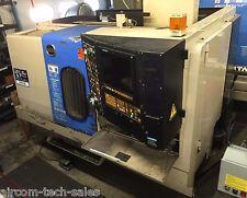 "Hitachi Seiki HT25R CNC Lathe Live Tooling C Axis 10"" Chuck Presetter Conveyor"