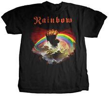 RAINBOW RISING HAND ALBUM CLOUDS ROCK ROLL MUSIC HEAVY METAL BAND T SHIRT S-2XL