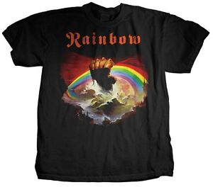 RAINBOW RISING HAND ALBUM CLOUDS ROCK ROLL MUSIC HEAVY METAL BAND T SHIRT S-2XL