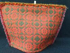 More details for vintage welsh tapestry tea pot cosy wool pink orange green 13