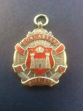 1932 Silver & Enamel Doncaster Wheelers Cycling Club Medal Fob Fattorini Bham