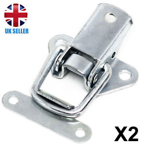 2x QUALITY Silver Toggle Catch Tool/Cabinet/Suitcase/Box/Cupboard Clip Case Lock