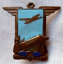 Insigne Marine Indochine Aéronavale PORTE AVIONS COLOSSUS (Arromanches) ORIGINAL