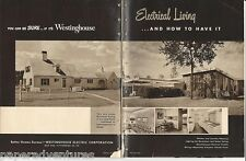 1951 VTG WESTINGHOUSE Electric Planning KITCHEN Laundry Appliances RETRO Catalog