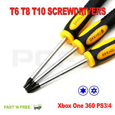 T6/8/10 Torx Star Magnetic Security Tamperproof Screwdriver Xbox One 360 PS3/4