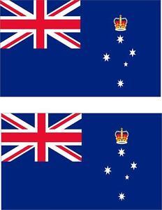 2 x Autocollant sticker voiture moto vinyl drapeau australie victoria