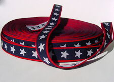 2 yds :: STARS & STRIPES WOVEN WEBBING YARDAGE :: 1 inch wide :: Nice Thickness