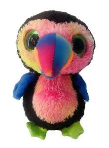 Ty, Beaks, Toucan Bird, 6', 15cm Tall, 2017, Beanie Babies, Boo, Boos #61 Plush