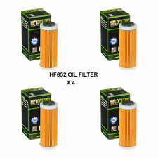 HUSQVARNA FC250 FITS YEARS 2014 TO 2018 HIFLOFILTRO OIL FILTER  HF652  4 PACK