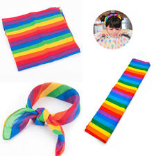 Cotton Rainbow Headscarf Bandanas Headband Pride Face Mask Neck Scarf Gift New