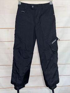 Boy's SPYDER XT Snow Ski Snowboard Pants Slacks Black Size Sz 10 Kid's Youth A8