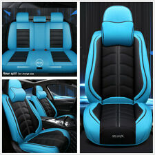 5 Seats Car PU Leather Seat Cover Full Set Deluxe Edition 5D Surround Breathable