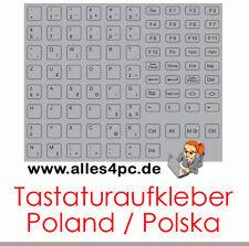 KEYSTICK (F). NOTEBOOK POLONIA TUTTE LE CHIAVI GRIGIO TASTATURSUFKLEBER POLSKA