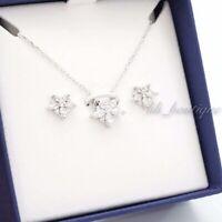 NIB Swarovski 5411120 Lady Set Necklace Earrings Rhodium-Plated Clear Crystal