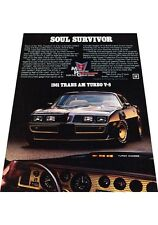 1981 Pontiac Trans am Turbo Firebird -  Vintage Advertisement Car Print Ad J421