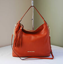 Michael Kors Weston Large 100% Leather Shoulder Bag in Burnt Orange, NWOT