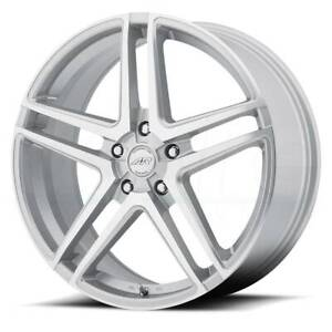 16x7 AMERICAN RACING AR907 5x114.3 ET40 Silver Machined Rims (Set of 4)