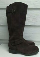 Ugg Jillian 1917 Tall Brown Suede Sheerling Boot Size 10 EUC
